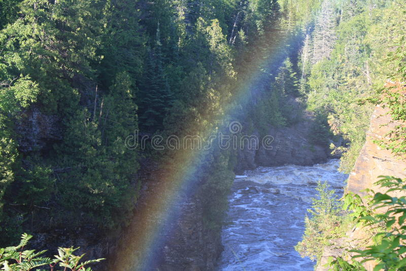 Rainbow falls stock photography