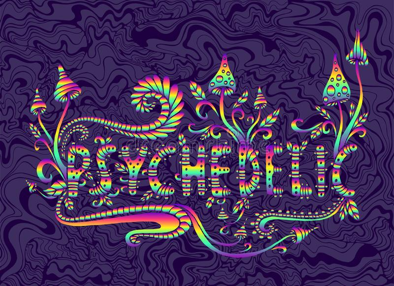 Word Psychedelic Stock Illustrations 291 Word Psychedelic Stock