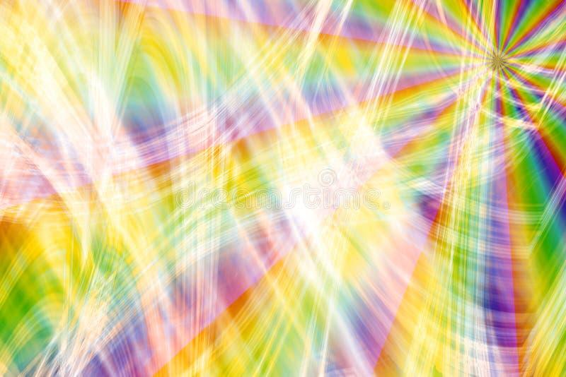 Rainbow Fireworks Burst. Bright and vivid colorful rainbow burst of wavy laser rays like spectacular fireworks vector illustration