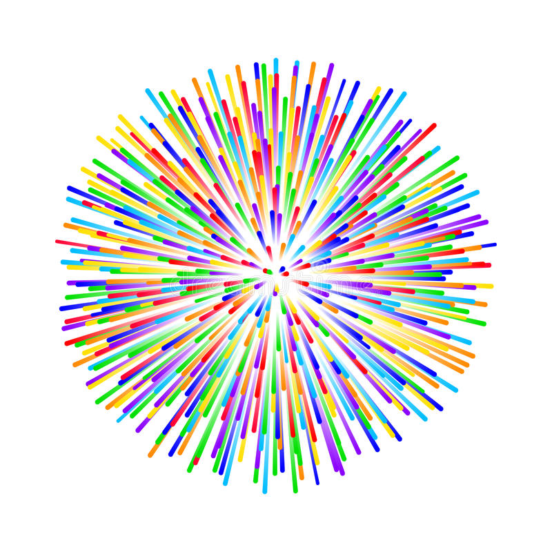 rainbow fireworks on white background stock vector illustration of rh dreamstime com vector fireworks silhouette vector fireworks silhouette