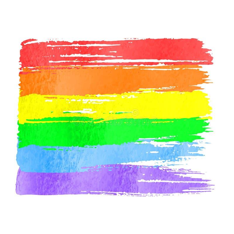 Rainbow flag as symbol of gay pride royalty free illustration