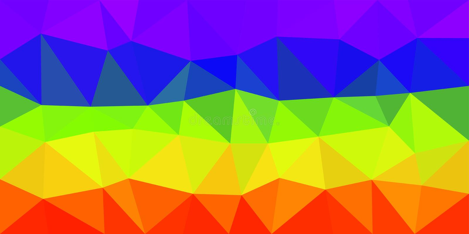 Rainbow Flag Low Poly Vector Background stock illustration