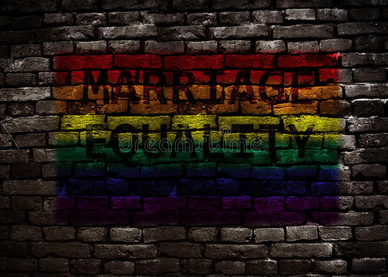 Rainbow flag marriage equality royalty free stock photo