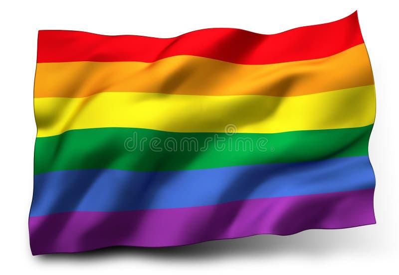 Rainbow flag royalty free illustration