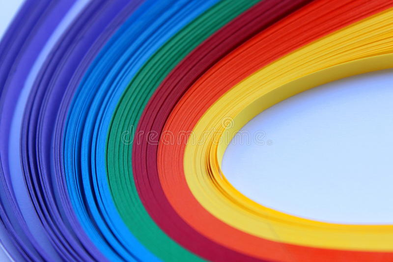 Download Rainbow Flame Paper For Quilling Stock Image - Image: 33208055