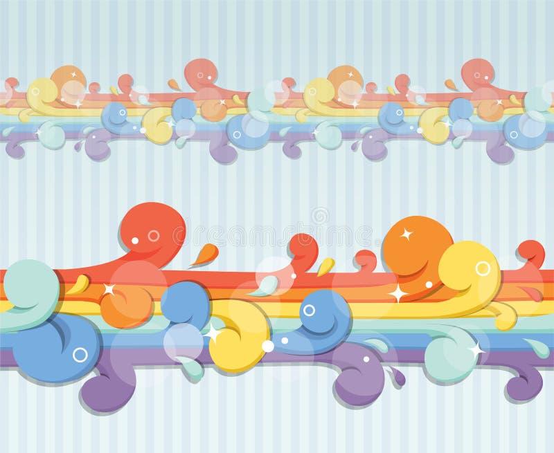Rainbow flow. Abstract seamless rainbow flow vector illustration
