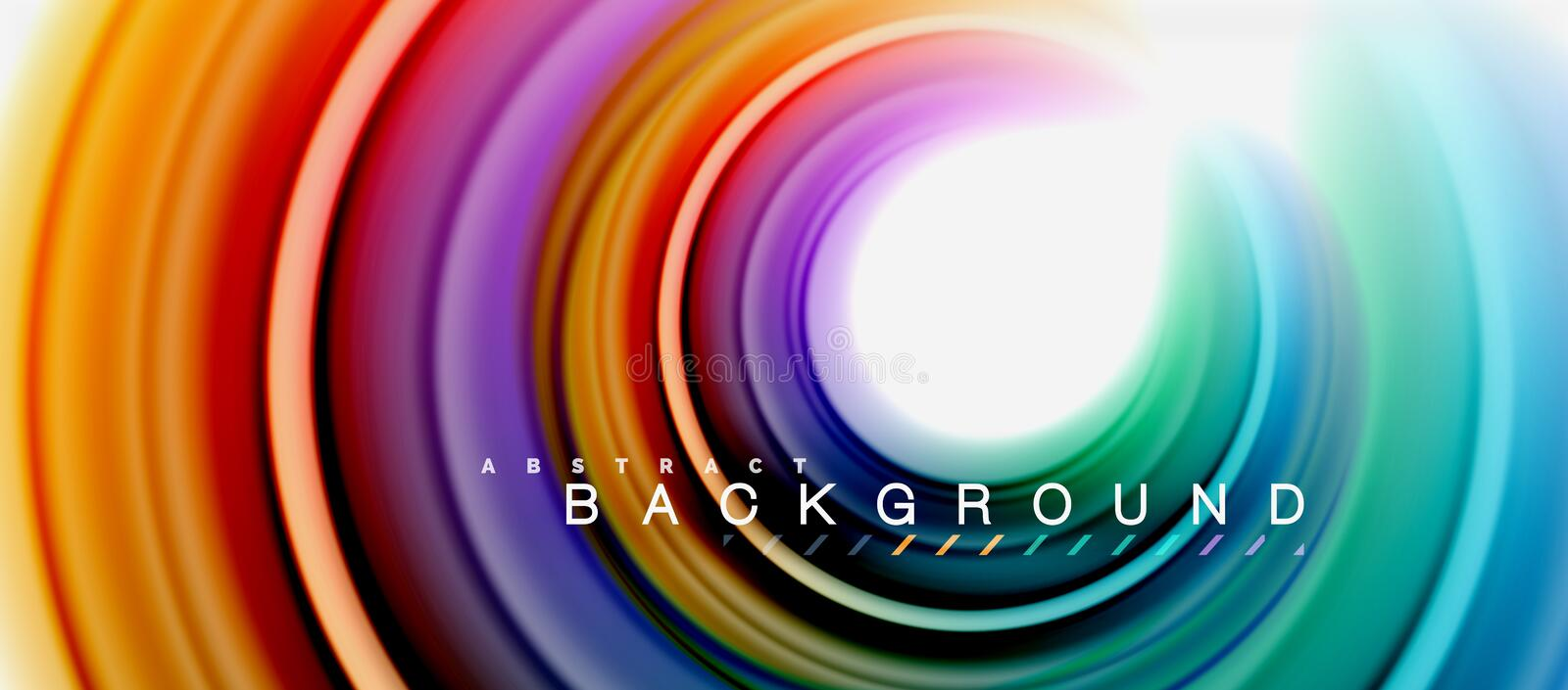 Rainbow fluid abstract swirl shape, twisted liquid colors design, colorful marble or plastic wavy texture background vector illustration