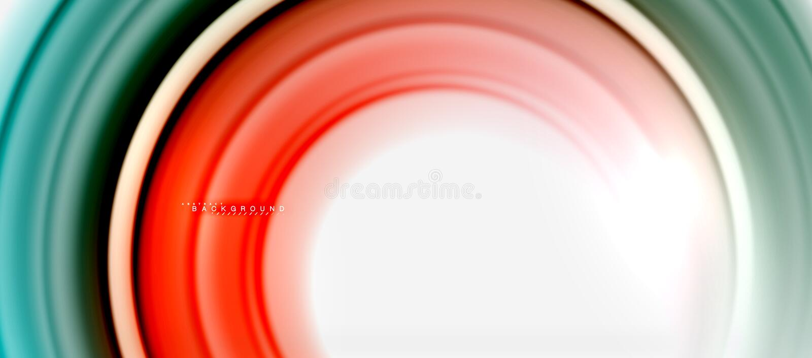 Rainbow fluid color line abstract background - swirl and circles, twisted liquid colours design, colorful marble or vector illustration