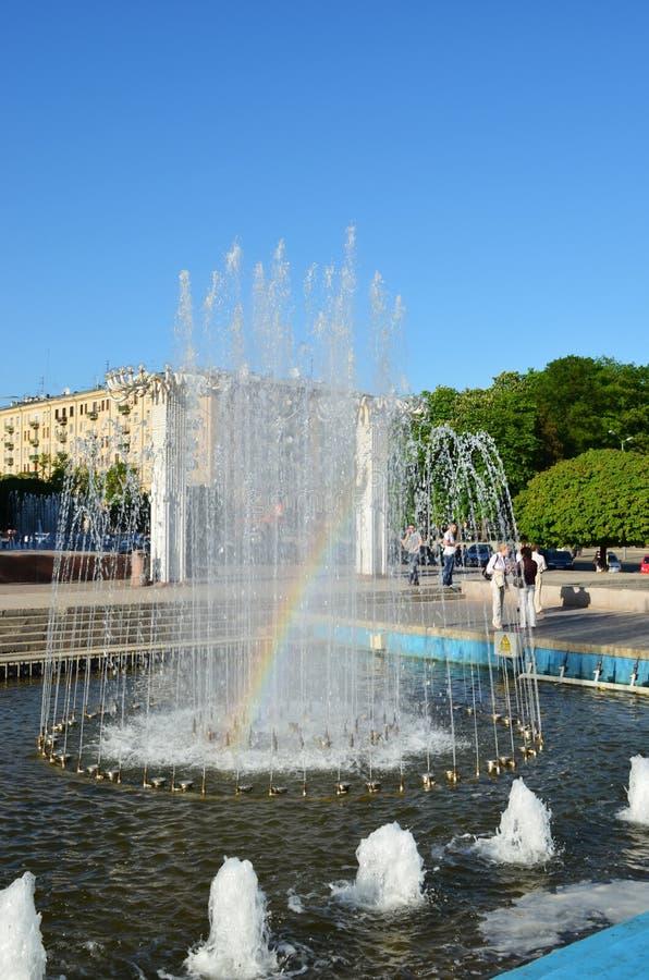 Download Rainbow In The Fountain - Kharkiv Ukraine Stock Photos - Image: 25960643
