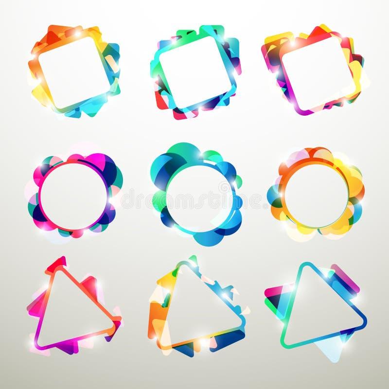Rainbow frames stock illustration