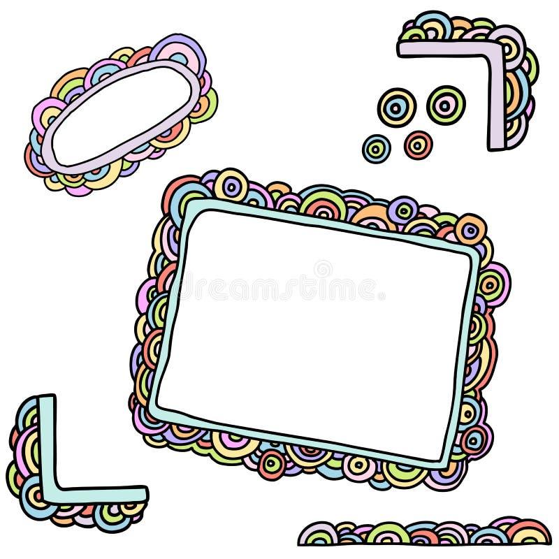 Rainbow Frames Stock Photo
