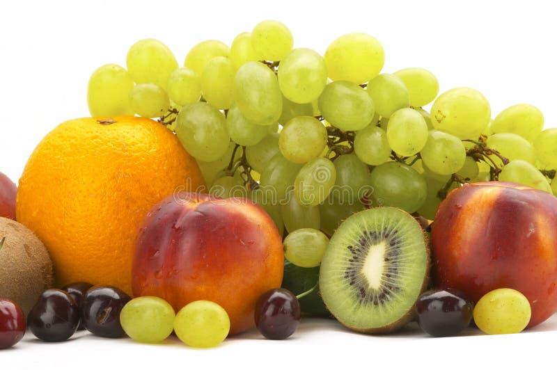 Rainbow of fruit royalty free stock photos