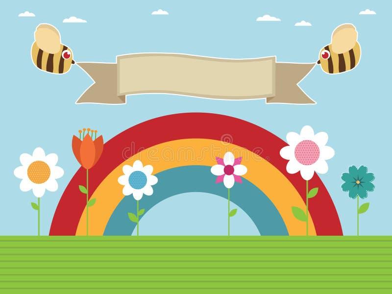 Rainbow garden stock illustration