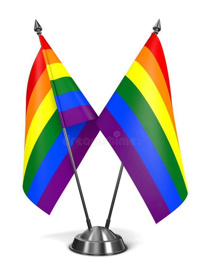 Rainbow Gay Pride Miniature Flags. Rainbow Gay Pride Miniature Flags Isolated on White Background vector illustration