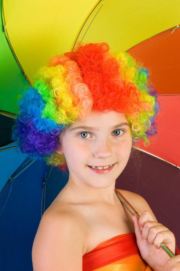 Rainbow Girl Royalty Free Stock Image