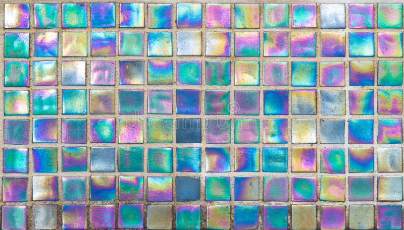 Rainbow Glass Mosaic Tile royalty free stock photos