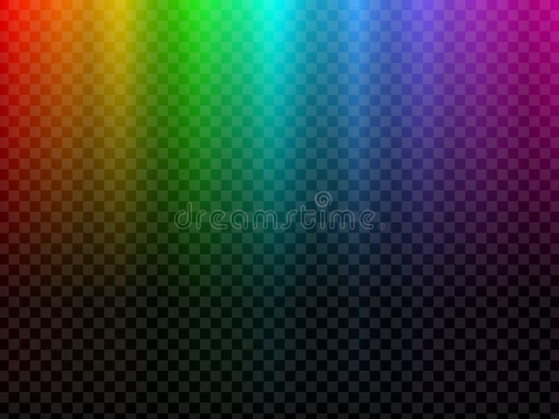 Rainbow glowing light. Northern light polar effect stock images