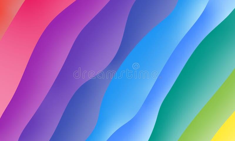 Rainbow gradient background vector illustration