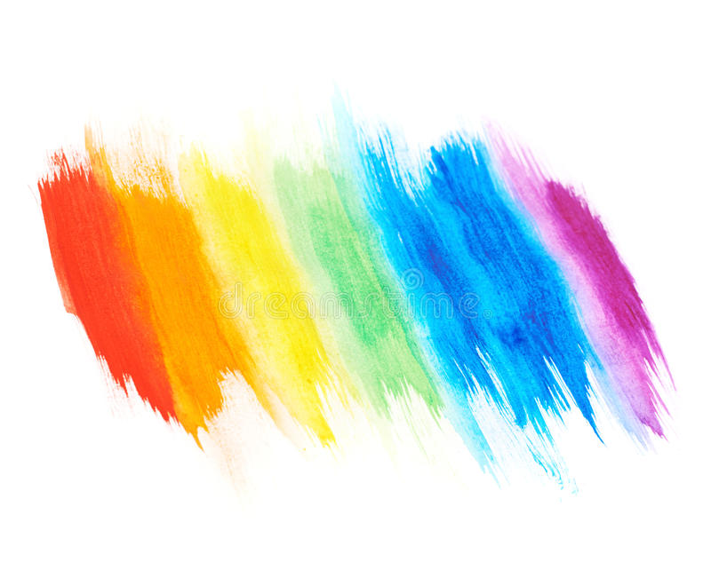 Rainbow Gradient Made With Paint Strokes Stock Photo ...