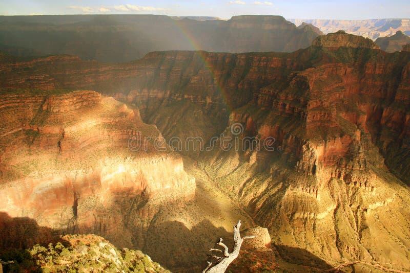 Rainbow in Grand Canyon stock photo