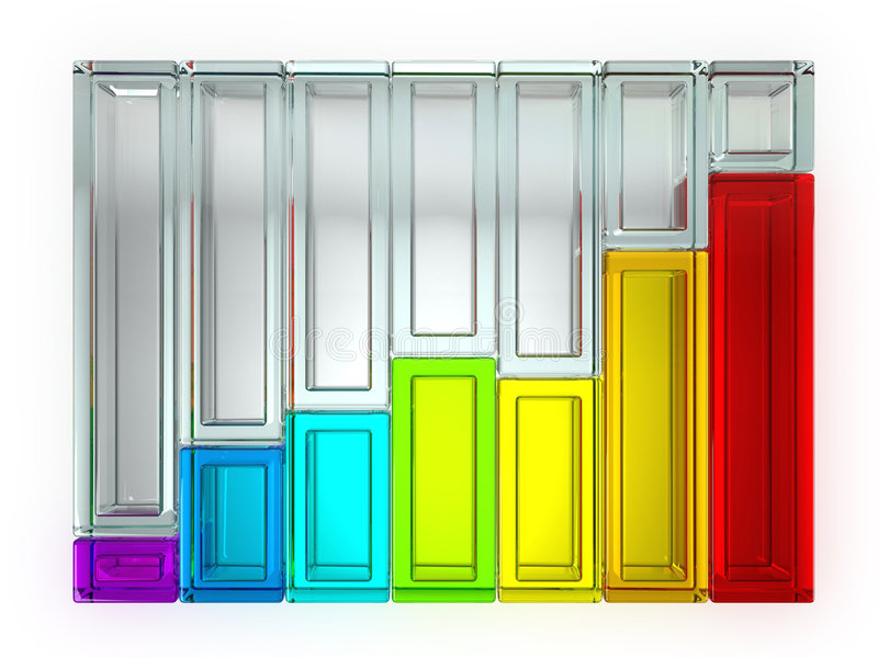 Rainbow Graph Isolated stock illustration