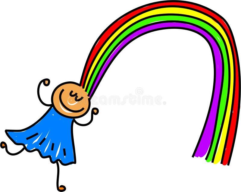 Rainbow hair stock illustration