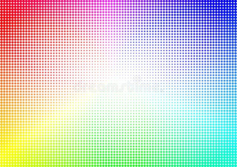 Rainbow Halftone dots geometric background royalty free illustration