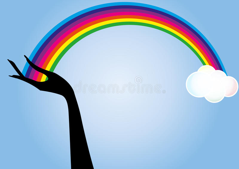 Rainbow Hand Stock Images