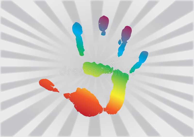 Download Rainbow Hand stock vector. Illustration of happy, graphic - 9071995