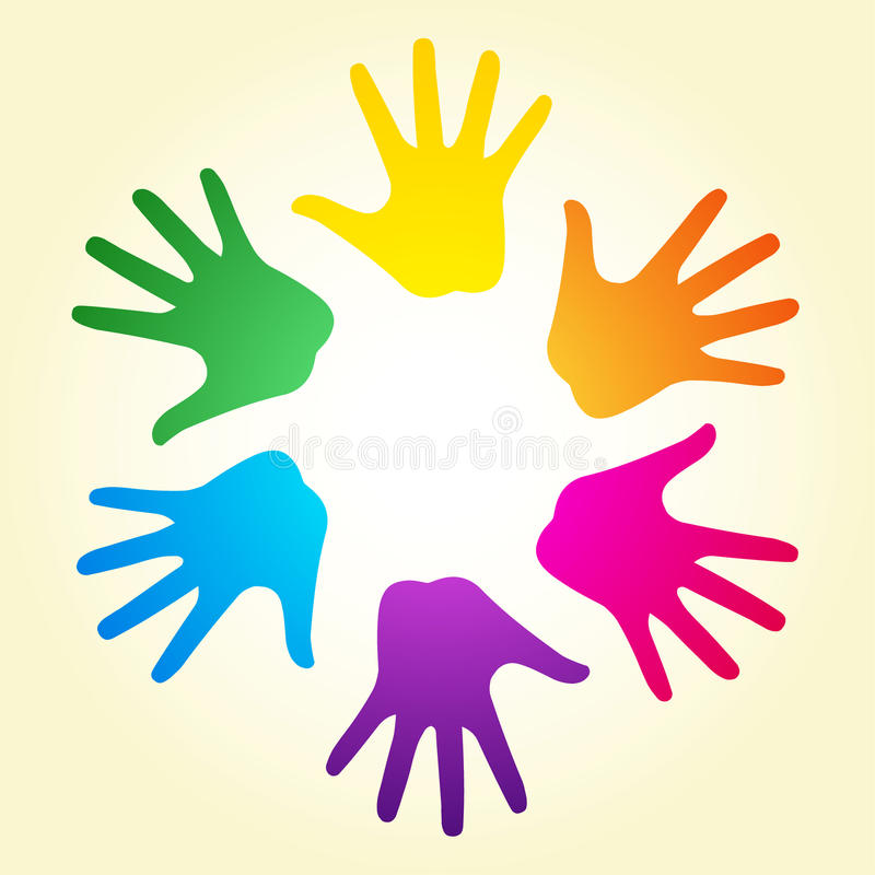 Download Rainbow hands stock vector. Image of connection, charity - 17608610