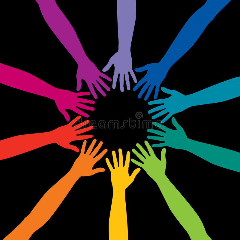 Rainbow Hands Stock Images