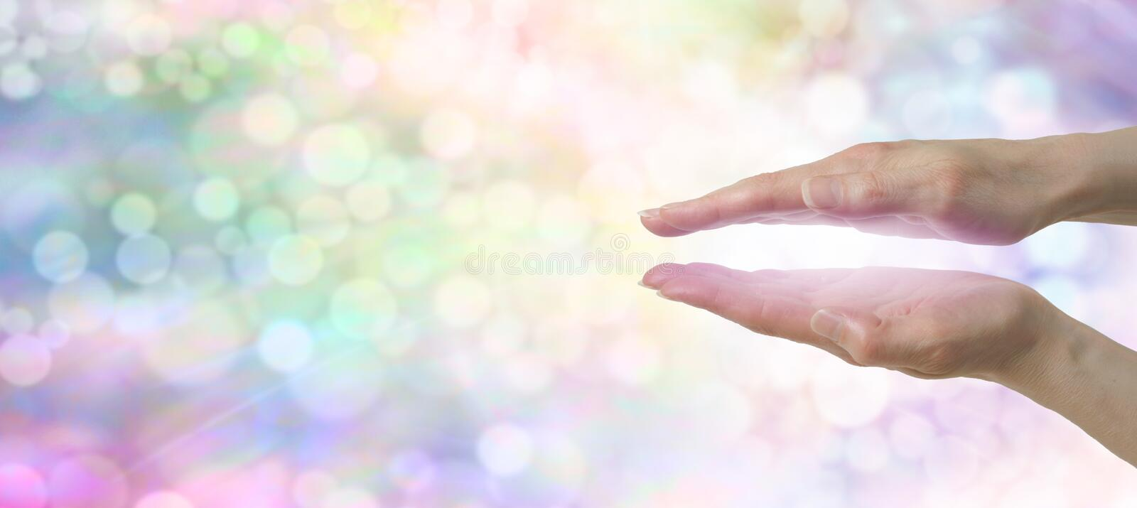 Rainbow Healers Website Banner royalty free stock images