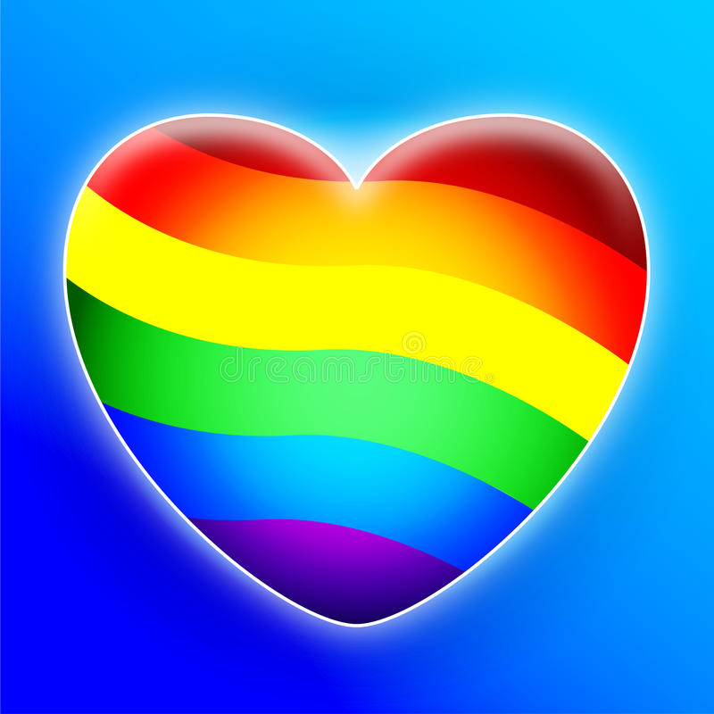 Download Rainbow Heart Royalty Free Stock Photos - Image: 18523888