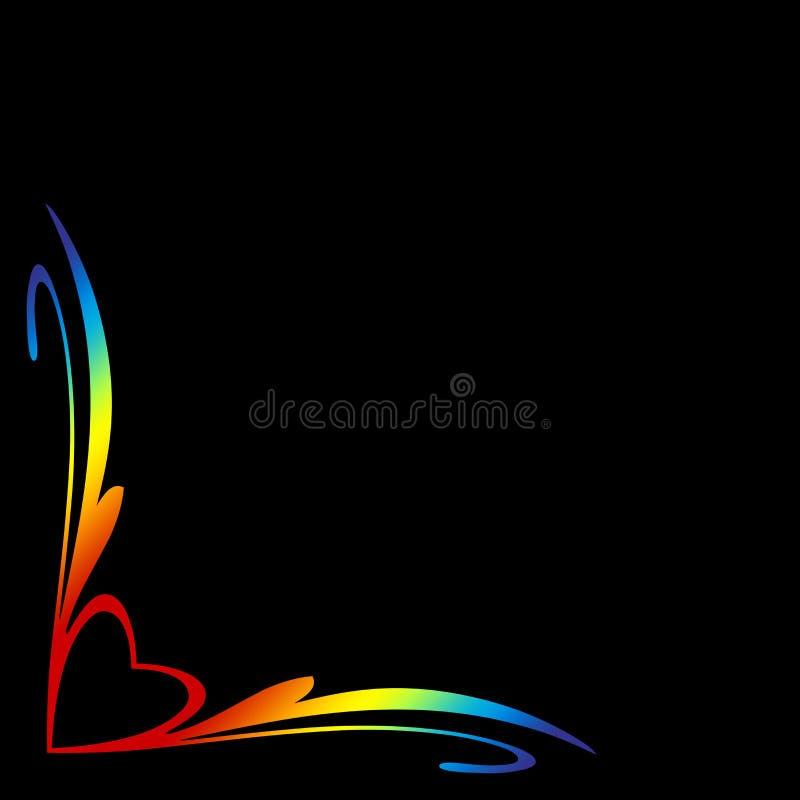 Download Rainbow Heart Border stock illustration. Image of heartshapes - 11195488