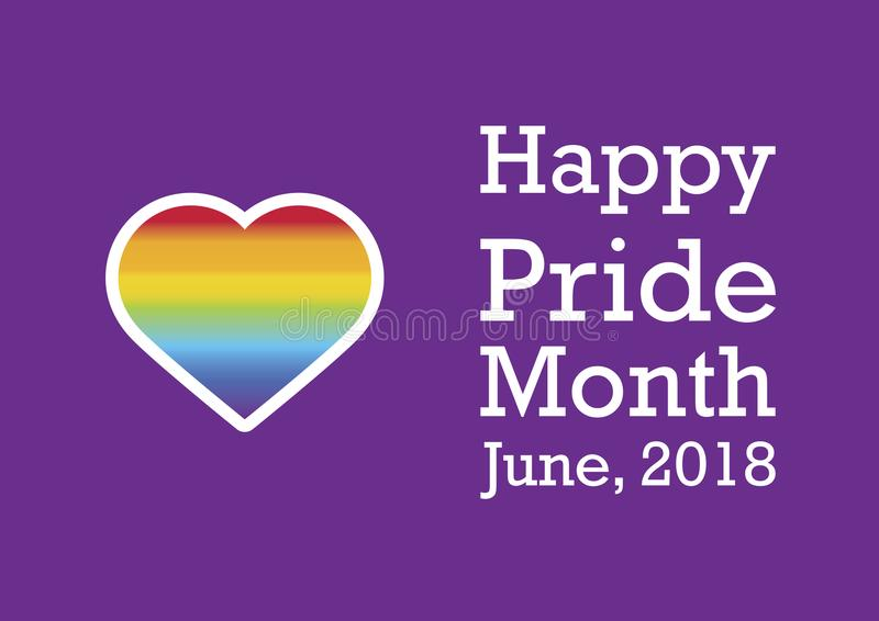 Happy Pride Month vector. Rainbow heart LGBT. Celebrate LGBTQ Pride Month. Celebration of pride. Important day vector illustration