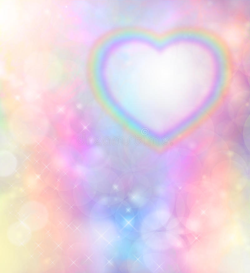 Free Rainbow Heart On Rainbow Bokeh Background Royalty Free Stock Image - 42250556