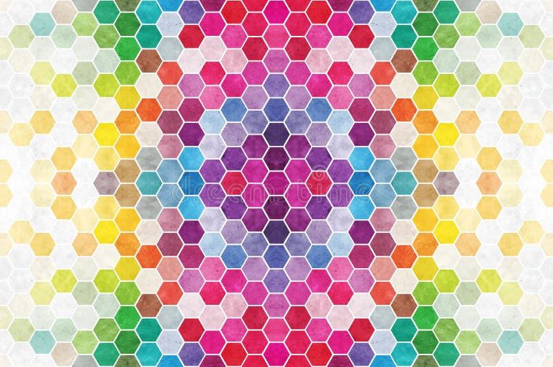 Rainbow Hexagons Tile stock image