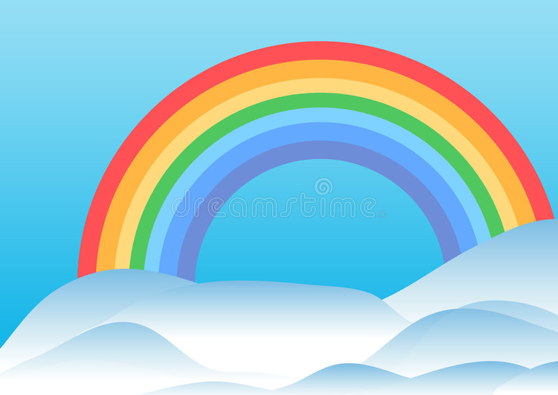 Download Rainbow and hills stock illustration. Image of autumn - 4321116