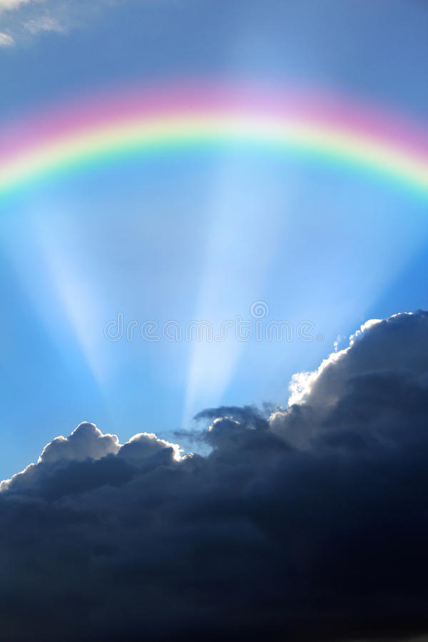 Rainbow of hope royalty free stock photos