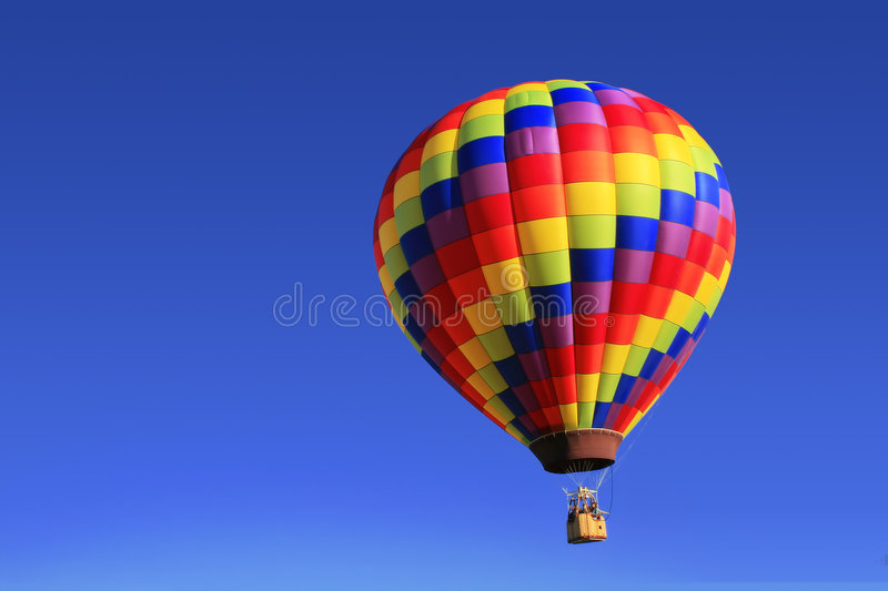 Rainbow Hot Air Balloon royalty free stock images