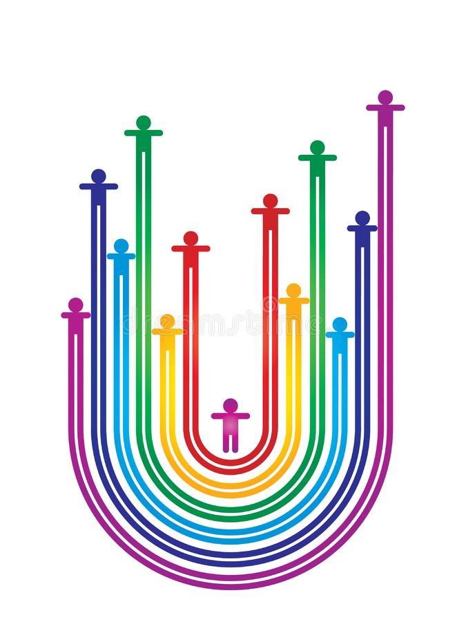 Download Rainbow Human Graphic Design Stock Illustration - Illustration of sign, shape: 24875349