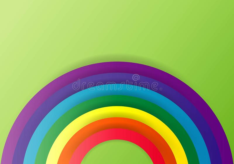 Rainbow icon. Arch spectrum. Modern flat pictogram, business, marketing, internet concept. Trendy Simple vector symbol for web royalty free illustration