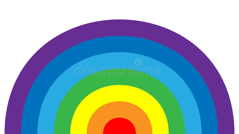 Rainbow icon cartoon isolated white background royalty free illustration