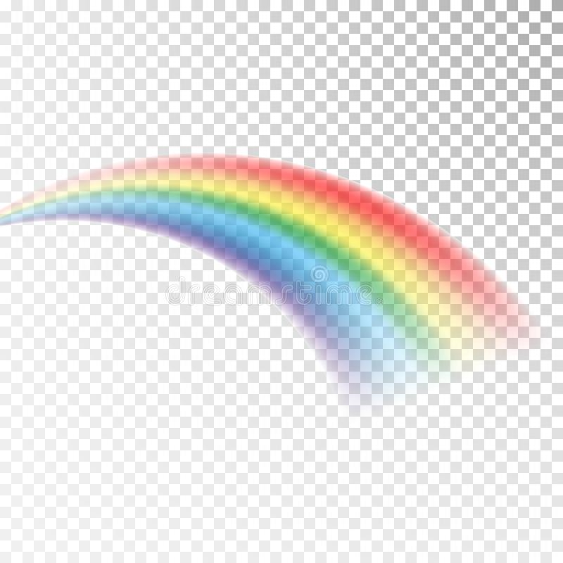 Rainbow icon. Colorful light and bright design element for decorative. Abstract rainbow image. Vector illustration isolated on tra. Nsparent background royalty free illustration