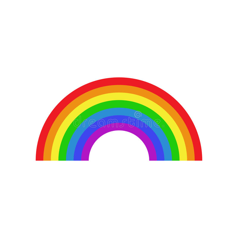 Rainbow icon flat stock illustration