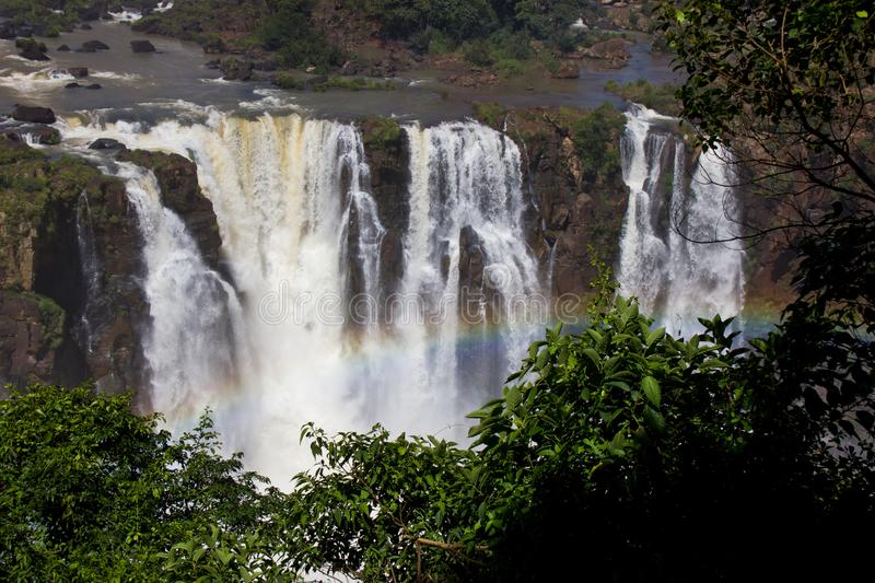 Rainbow in Iguazu waterfall Argentina / South America stock image
