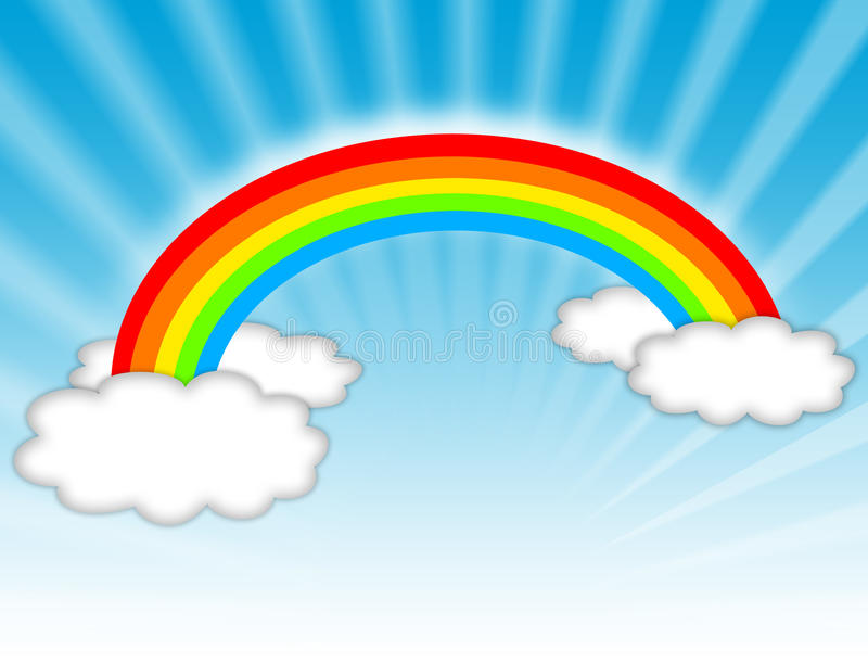 Rainbow illustration royalty free illustration