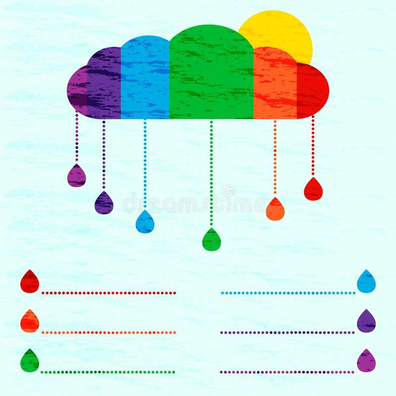 Rainbow info graphic vector illustration