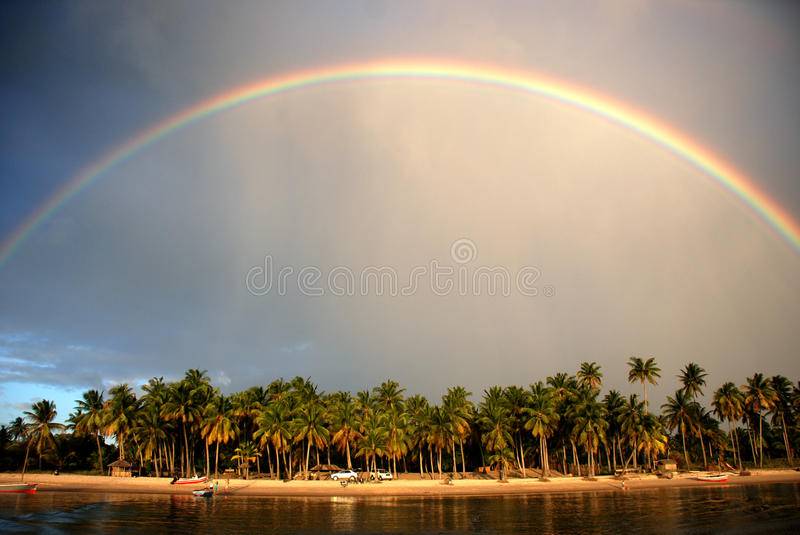 Rainbow Island Royalty Free Stock Photography