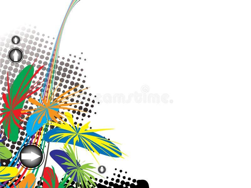 Rainbow jungle stock illustration